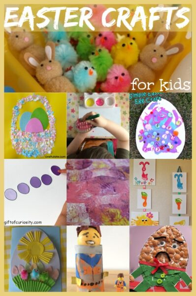 This is great - a list of Easter crafts for kids -  full of pretty ideas