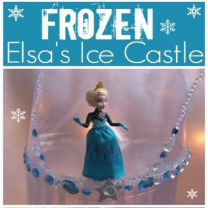 Make an ice castle like in Disney's Frozen