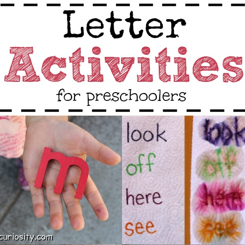 I'm going to use these letter activities with my preschoolers. Lots of fun ways for them to learn their letters