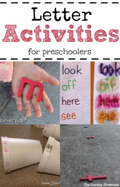 These will be great for my little preschooler. A selection of fun ideas for learning letters.