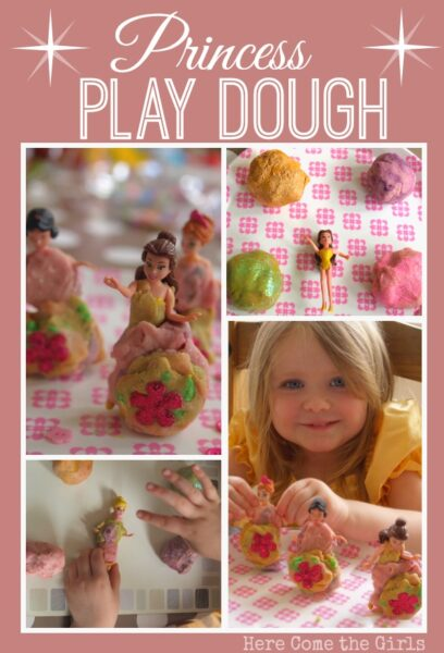 My girls played with this princess play dough for over two hours. It was such a fun sensory activity.