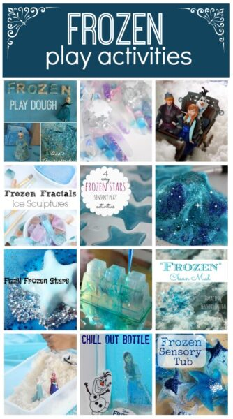 Frozen Play Activities: Hands on play time for fans of the disney Frozen Movie - play dough, slime, and sensory play