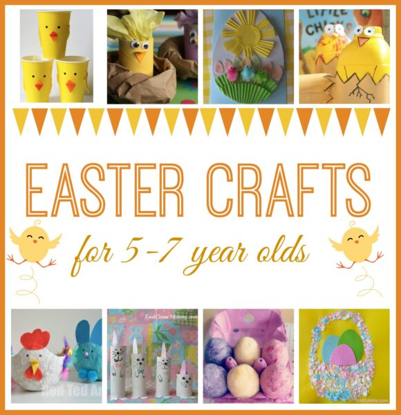 Easter Crafts for kids. A great round up of crafts for children aged 5-7 years.