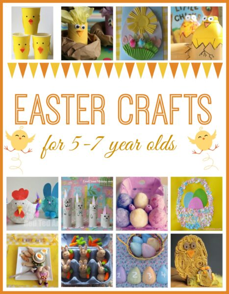 Easter crafts for kids here come the girls for Crafts for 7 year old girls