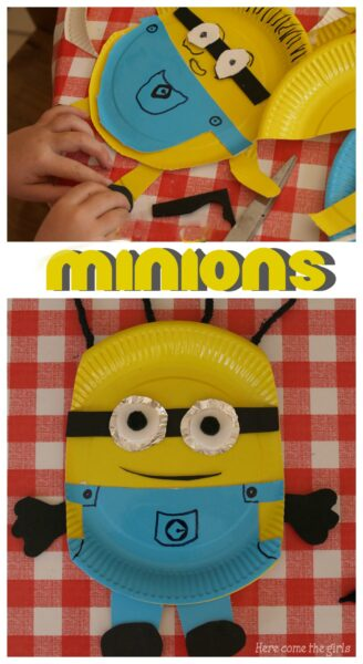 Paper plate Minion craft for kids & Paper Plate Minion Craft - Here Come the Girls