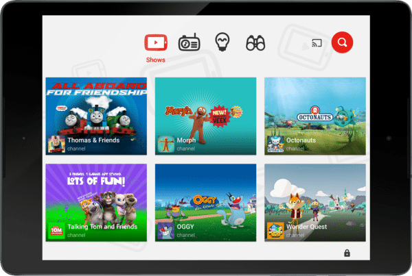 YouTubeKids_UK_Home Screen