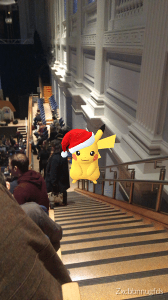 Pikachu in Christmas hat