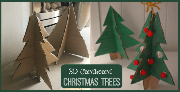 3D Cardboard Christmas Tree Decorations