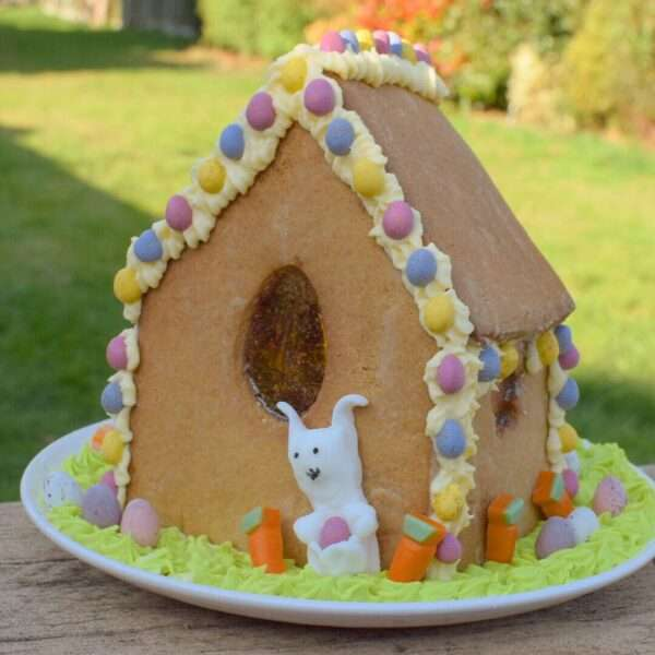 Easter Bunny Gingerbread House