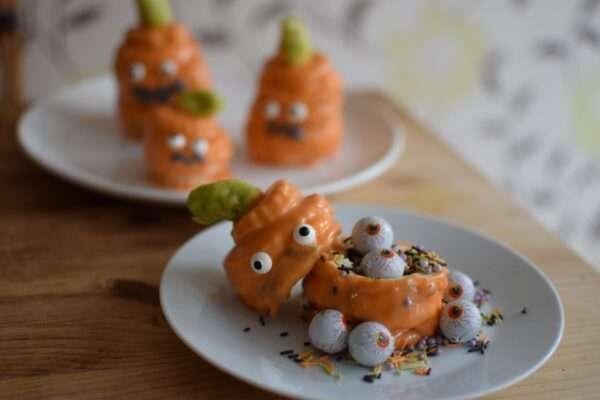 Hidden surprise pumpkin biscuits